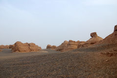 Dunhuang Yadan landform Royalty Free Stock Photos