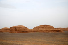 Dunhuang Yadan landform Stock Image