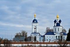 Dunilovo. Holy Dormition convent Stock Photos