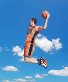Dunk in the sky Royalty Free Stock Photos
