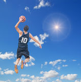 Dunk in the sun Royalty Free Stock Images