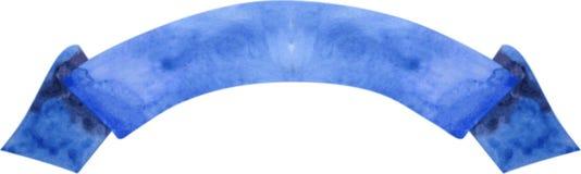 Dunkelblaue Fahne des Aquarells Auch im corel abgehobenen Betrag Lizenzfreies Stockbild