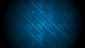 Dunkelblaue High-Teche geometrische Videoanimation stock video