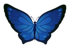 Dunkelblaue Schmetterlinge des Vektors Lizenzfreie Stockfotografie