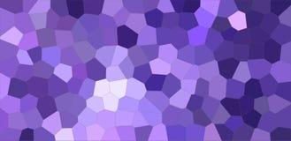 Dunkelblaue und purpurrote bunte mittlere Größenhexagon-Hintergrundillustration stock abbildung
