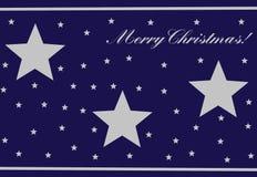 Dunkelblaue Weihnachtskarte vektor abbildung