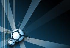 Dunkelblauer Eleganzhintergrund des Fußballs Stockbilder