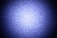 Dunkelblauer Gewebebeschaffenheitshintergrund Lizenzfreies Stockbild