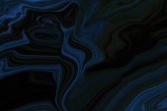 Dunkelblauer, grüner Hintergrund mit abstrakten Linien Eine vage mit einem Zirkumflex versehene abstrakte Illustration mit Steigu stock abbildung