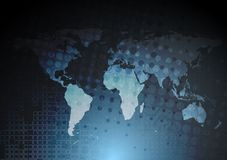 Dunkelblauer HalloTechnologie Hintergrund Stockfoto