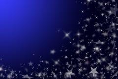 Dunkelblauer Hintergrund mit Sternen. stockfoto