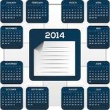Dunkelblauer Kalender für neues Jahr Stockfotografie