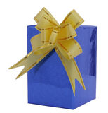 Dunkelblauer Kasten für ein Geschenk stockbilder