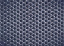 Dunkelblauer Metallhintergrund mit Löchern Metal Gitter Lizenzfreies Stockbild