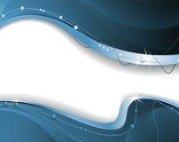Dunkelblauer wellenförmiger abstrakter Hintergrund Stockbild