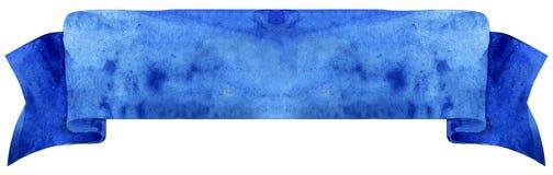 Dunkelblaues Band des Aquarells Lizenzfreies Stockbild