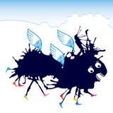 Dunkelblaues Fliegenmonster Stockbild