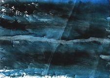 Dunkelblaues gestreiftes Aquarellbild stockbild