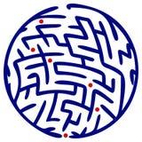 Rundes Labyrinth Lizenzfreie Stockfotos