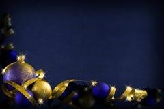 Dunkelblaues Weihnachten Stockbild