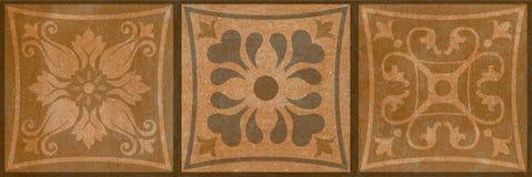 Dunkelbrauner Hintergrund des Blumenweinlesemusters lizenzfreie stockfotos