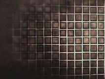 Dunkelbrauner quadratischer Musterhintergrund Stockbilder