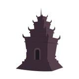 Dunkelbrauner Tempel Stockbild