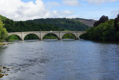 Dunkeld-Brücke in Vereinigtem Königreich Stockfotografie