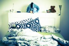 Dunkeld/Scotland - 7 July 2019: Eeyore toy from Winnie The Pooh in the bedroom