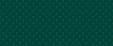 Dunkelgrüne Farbe Tiefes nahtloses Smaragdmuster für erstklassige königliche Partei stock abbildung