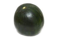 Dunkelgrüne Wassermelone stockfoto