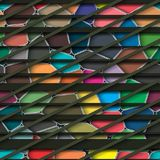 Dunkelgrüner gestreifter nahtloser Hintergrund Stockbilder