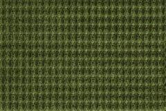 Dunkelgrüner Hintergrund vom weichen wolligen Gewebeabschluß oben Beschaffenheit von den Geweben Makro Stockfoto