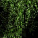 Dunkelgrünes Mosaik 3D Stockfoto