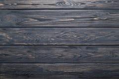 Dunkelgraue alte rustikale hölzerne Planken Beschaffenheit oder Hintergrund Stockfotografie