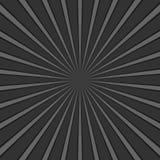 Dunkelgrauer abstrakter geometrischer Strahl sprengte Hintergrund - Retro- Vektorgraphik mit Radiallinien lizenzfreie abbildung