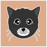 Dunkelgraues nettes Kätzchen vektor abbildung