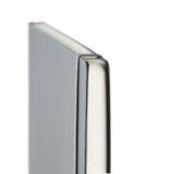 Dunkelgraues Notizbuch getrennt auf Weiß lizenzfreies stockbild