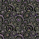 Dunkelheits-nahtloses Muster stock abbildung