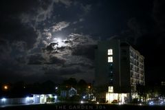 Dunkelheitsgebäude Lizenzfreies Stockfoto