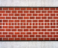 Dunkelrote Blockbacksteinmauer Stockbild
