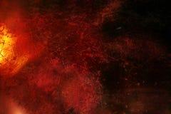 Dunkelroter grunge Hintergrund mit Kratzern Lizenzfreies Stockfoto