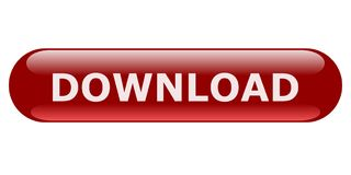Dunkelroter ovaler Downloadknopf für Website Stockbilder