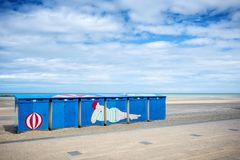 Dunkerque - Malo Les Bains, beach resort of Dunkirk. Nord Pas de Calais, France. Famous episode of the twentieth century history of the city is the Battle of Royalty Free Stock Photo