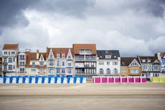 Dunkerque - Malo Les Bains, beach resort of Dunkirk. Nord Pas de Calais, France. Famous episode of the twentieth century history of the city is the Battle of Stock Photos