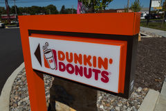 Dunkin多福饼标志 库存图片