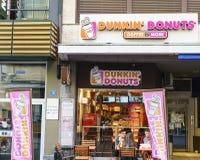 Dunkin油炸圈饼商店在瑞士 库存图片