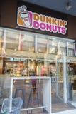 Dunkin油炸圈饼在瑞士 免版税库存照片