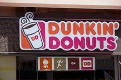 Dunkin油炸圈饼 库存照片