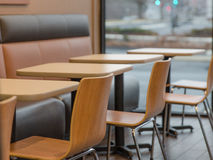 Dunkin donuts restaurant chairs Royalty Free Stock Images